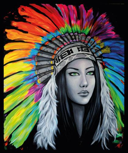 Native American Girl - 60x80 cm