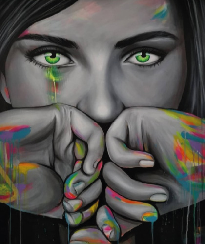 Green Eyes - 100x120 cm