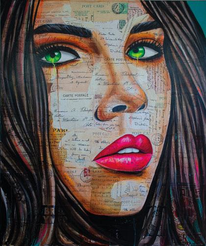 Girl With Birthmarks - 100x120 cm