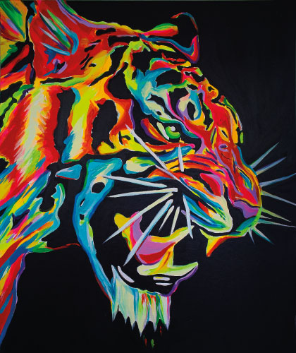 Tiger - 100x130 cm