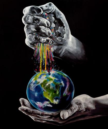 Show Me Your World - 100x130 cm